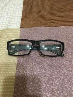 🚚 文青皮革平光造型眼鏡