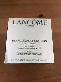 Lancome blanc expert cushion 奶油肌效果 CC氣墊粉底 粉芯 BO-01 Light coverage