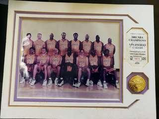 2001 NBA Champion Lakers Limited Edition Collectible