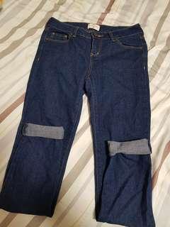 🚚 NET全新深藍色緊身顯瘦牛仔褲🖤