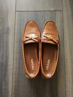 Prada Vintage Tan Colored Loafers Authentic