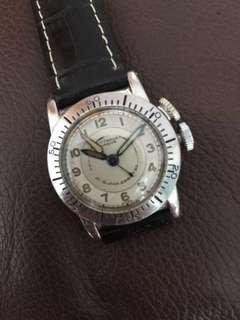 (Christmas Sales!) LONGINES WEEMS 1940's WWII Military Pilot's Aviators locking Bezel Mechanical Winding Vintage Wrist Watch
