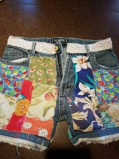 Flower Patch Tattered Shorts