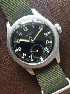 (New Year Sales!) TIMOR 1940's WWW British Military Issued WW2 Army Vintage DIRTY DOZEN Wrist Watch RARE