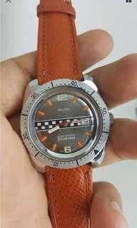 (New Year Sales!) ELTON RACING + DIVER 1960's Vintage Mechanical Winding Wrist Watch