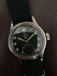 (New Years Sales!) OMEGA 1940's WWW British Military Issued WW2 Army Vintage Wrist Watch RARE