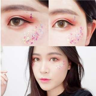 [Instocks] PINK Mermaid Scale - Face or Body, Glitter and Sequins Cream Eye shadow