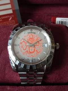 (New Year Sales!) TUDOR Rolex Red Dragon Dial 2012 Mechanical AUTOMATIC DateJust Wrist Watch