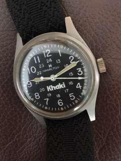 (New Year Sales!) HAMILTON Khaki MILITARY 24 Hours 1970's  Vintage Mechanical Winding Man Wrist Watch