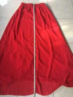 Bright Red Skirt