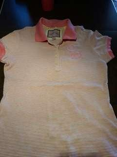 Abercrombie Pink polo shirt 😍sale!