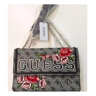 BRAND NEW 100% Original Guess Vikky Convertible Flap Bag in 4G Logo Basique