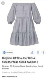 Seed Gingham Dress