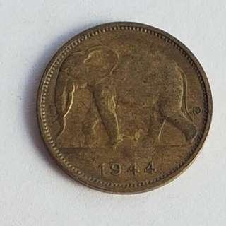 Belgian Congo 1 Franc 1944 Elephant