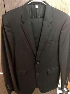 BURBERRY BLACK SUIT SET 黑色西裝外套連西褲套裝