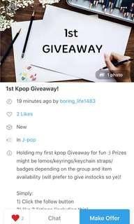 giveaway @boring_life1483