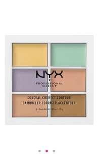 NYX colour correcting palette 六色遮瑕膏 Dior Chanel lv ysl Celine