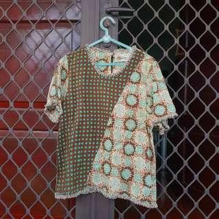 [FREE ONG] Batik coklat hijau