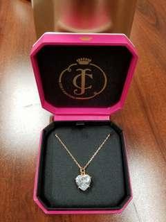 包順豐💝Juicy Couture 💖Necklace Rose Gold Heart 玫瑰金心形頸鏈
