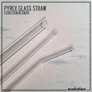 Pyrex Glass Straw