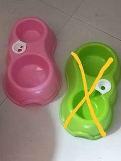 全新寵物2合1食物碗和水兜