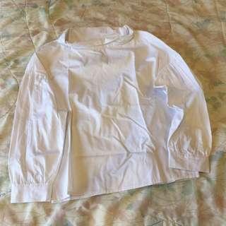 Brand New! Pink Manila White Cotton Blouse