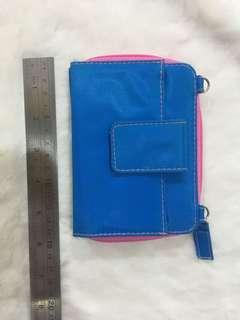 Blue and pink wallet