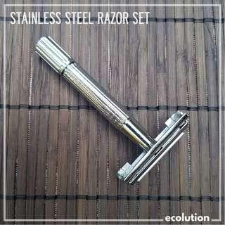 Stainless Steel Razor Set