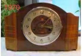 古董 1970年製 三五牌555牌上錬機械木座枱報點鐘,上海鐘廠 生產 全銅機芯