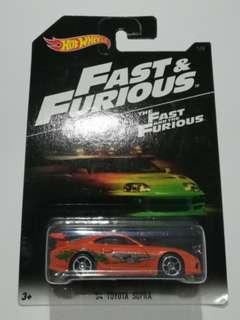 Hot Wheels 2016 Fast & Furious '94 Toyota Supra