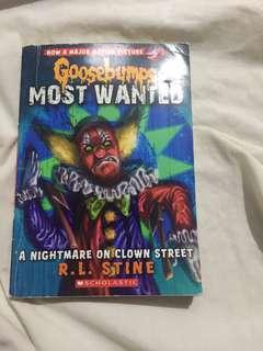 Goosebumps a nightmare on clown street