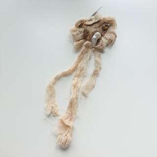 復古 Lace 扣針 飾物夾 兩用