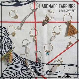 Handmade Earrings (7 Pairs)