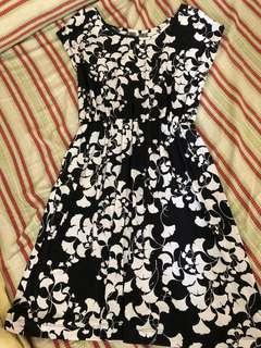 Black and White Stretch Dress