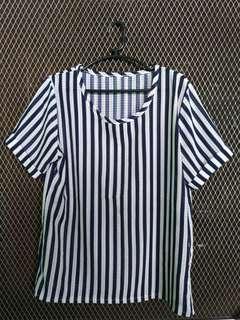 Navyblue Stripes Top