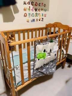 🚚 👶🏻嬰兒床 附床圍 附IKEA床墊 省找尺寸搭配