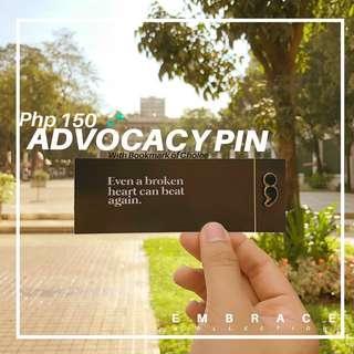 Semicolon Advocacy Pin