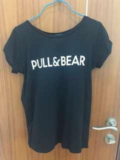 Pull and bear black tee