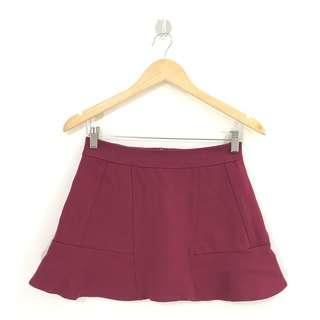 Pretty Maroon Skirt