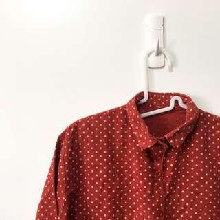 Retro Red Button Down Shirt