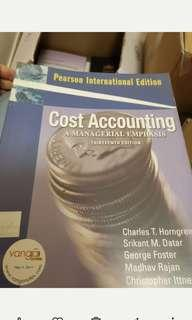 會計同學必備 cost accounting pearson 大學用書