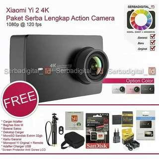 Xiaomi Yi 2 4K - iternational action camera PAKET KOMPLIT