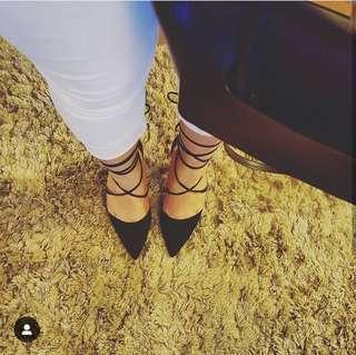 BETTS Nightsky black heels size 7