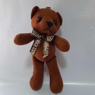 Boneka Teddy Bear Korea/Gantungan Tas/Gantungan Kunci/Souvenir Korea