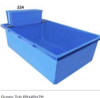 🚚 642ft blue plastic koi pond with top filter