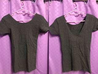 Dark Gray Fitted Shirt