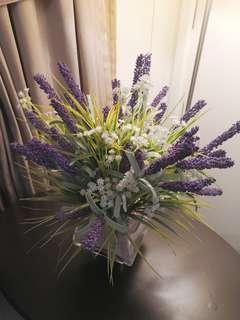 Lavender and Baby Breath Vase