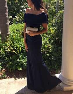 Sheike formal navy maxi dress