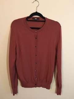 Uniqlo size L brown cardigan