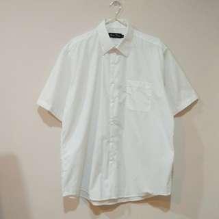 🚚 男短袖白襯衫